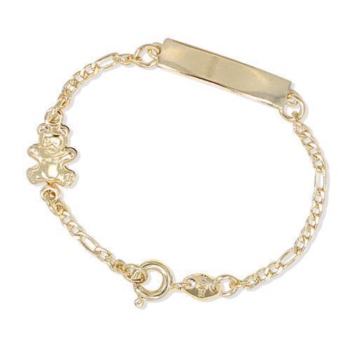Evil eye bracelet gold plated