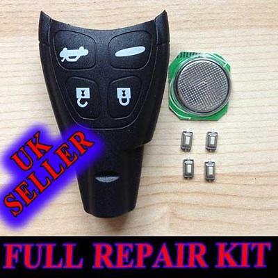 SAAB 93 95 9-3 9-5 TID AERO REMOTE KEY FOB CASE FULL REPAIR KIT