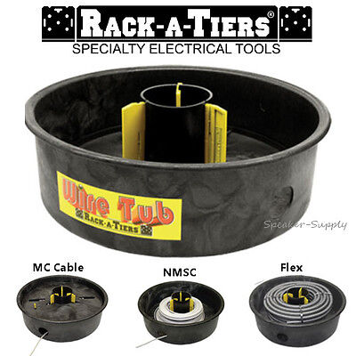 Rack-a-tiers Wire Tub Coil Dispenser Rewinder Electrical Cable Mc Nmsc New 18455
