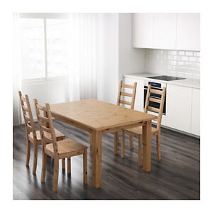 1.5 year new solid pine STORNÄS(Ikea) Extendable dining table Moose Jaw Regina Area image 2