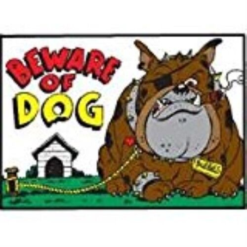Hy-Ko Products Beware Of Dog Novelty Sign 20542