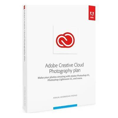 Adobe Creative Cloud Photography Plan For Mac  1 User   1 Year Subscription