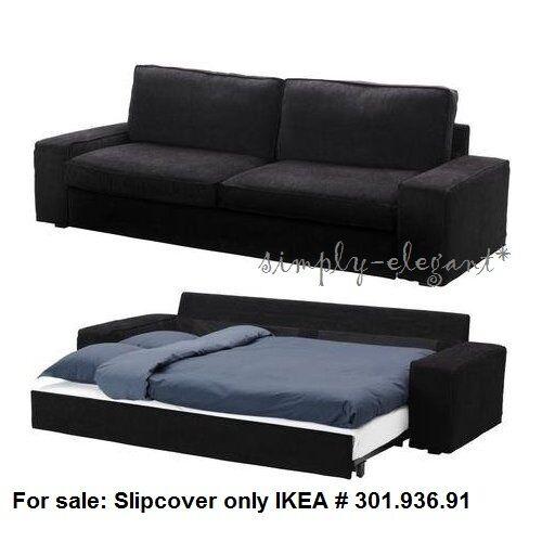 Ikea Cover for IKEA KIVIK Sofabed Sleeper Sofa Tranas Black Corduroy  Slipcover. IKEA Sofa Bed  Slipcovers   eBay