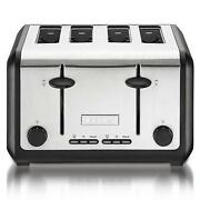 4 Slice Toaster Stainless