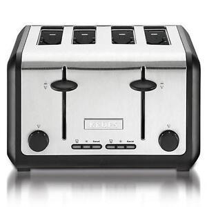 4 slice toaster ebay. Black Bedroom Furniture Sets. Home Design Ideas