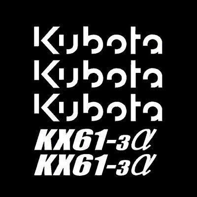 Kx61-3 Kubota Excavator Tracks Vinyl Decals Sticker Set Kit Kx 61 3 Alpha Mini