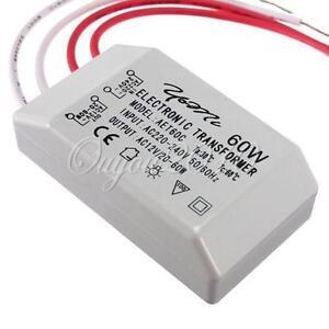 60W-ALOGENO-LED-LAMPADA-TRASFORMATORE-ELETTRONICO-POWER-DRIVER-220V-A-12V-NEW