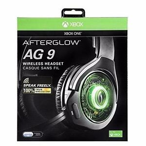 PDP Afterglow 9 Over-Ear Noise Cancelling Wireless Headset for Xbox One - Black Like New Condition