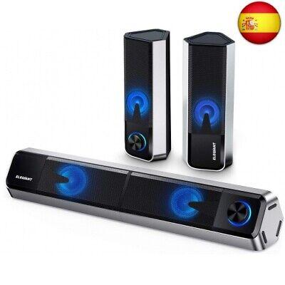 Altavoces PC ELEGIANT, 10W Barra de Sonido Bluetooth 5.0 Sobremesa con Cable