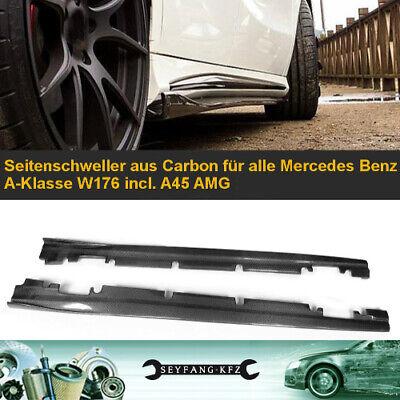 Seitenschweller aus Carbon Mercedes Benz A-Klasse W176 + A45 AMG