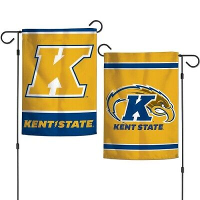 KENT STATE GOLDEN FLASHES 2 SIDED GARDEN FLAG 12