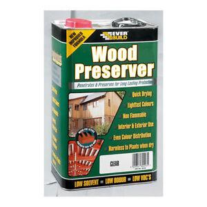 Everbuild Lumberjack Wood Preserver Treatment 5L Clear
