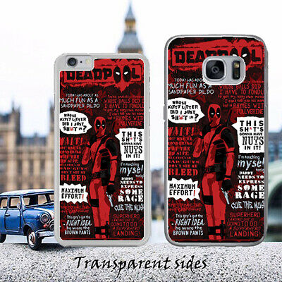 The Deadpool Best Quotes Phone Case Cover Fits iPhone, Samsung, Huawei