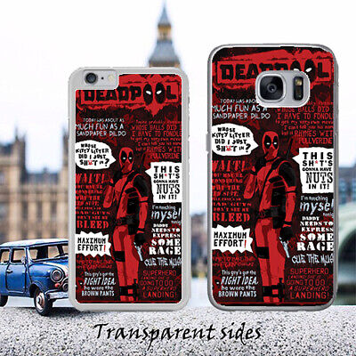 The Deadpool Best Quotes Phone Case Cover Fits iPhone, Samsung, Huawei](Deadpool Best Quotes)