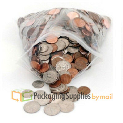 4 X 6 Small Clear Poly Reclosable Bags 4 Mil Ziplock Heavy-duty Baggies - 8000
