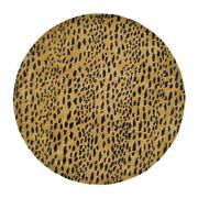 Round Leopard Rug