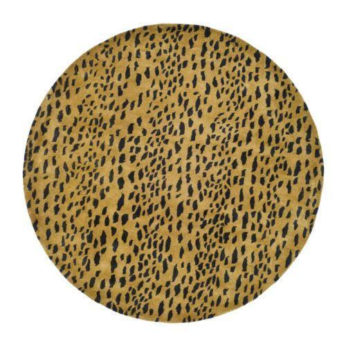 round leopard rug  ebay, 8' round leopard rug, round animal rugs, round leopard area rugs