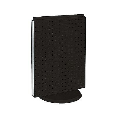 16 W X 20 H Black Counter Top Rotating Pegboard Tower Display Unit