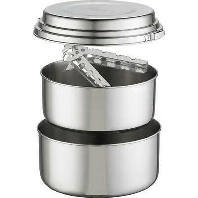 (MSR Alpine 2 Person Pot Cook Set 3 Piece Stainless New)