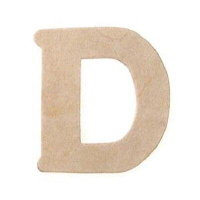 Miniature Wood Letter D Cutouts 3/4 inch 5pc Wedding Favors Crafts Wreaths BL (Letter Cutouts)