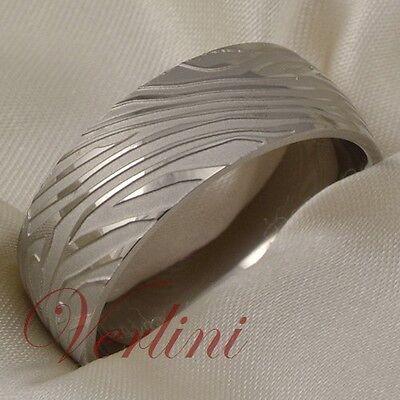 Titanium Mens Ring Womens Wedding Band Damascus Style Bridal Jewelry Size 6-13