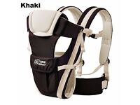 rand New Newborn Infant Baby Boy Carrier Breathable Ergonomic Adjustable Wrap Sling KHAKI