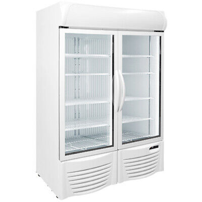 47 Upright 2 Glass Door Display Freezer Commercial Excellence Gdf-43 New 9741