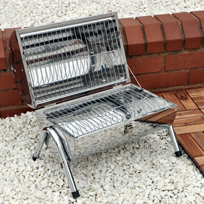 Portable Barrel Style Charcoal Barbecue / BBQ - Camping etc