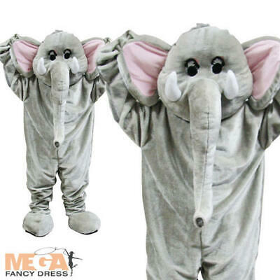 Deluxe Mascot Elephant Fancy Dress Adult Mens Ladies Costume Giant Animal Outfit](Elephant Man Costume)