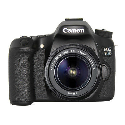 Canon EOS 70D DSLR Camera with 18-55mm III Lens