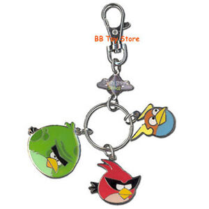 Angry Birds Space - Metal Keychain w/Charms - MONSTER, SUPER RED & LIGHTNING