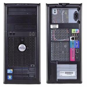 Tour Dell Optiplex GX 760 Core2Quad Q9400 @ 2.66 Ghz - 4 Go - Disque 160 Go - Windows 7 Pro