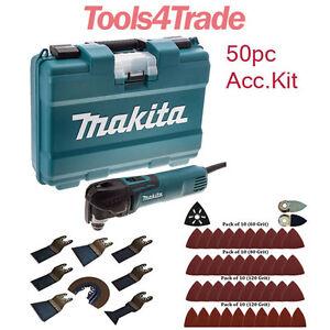 Makita TM3010CK Oscillating Multi-Tool Quick Change + 50pc Accessory Kit 240V