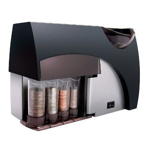 Automatic Coin Sorter Counter Wrapper Machine Bank Business Money Change Boxed