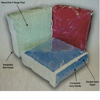 Queen or King Comforter / Blanket Storage Bags Clear w/ Zipper & Handle (Clear Storage Bags)