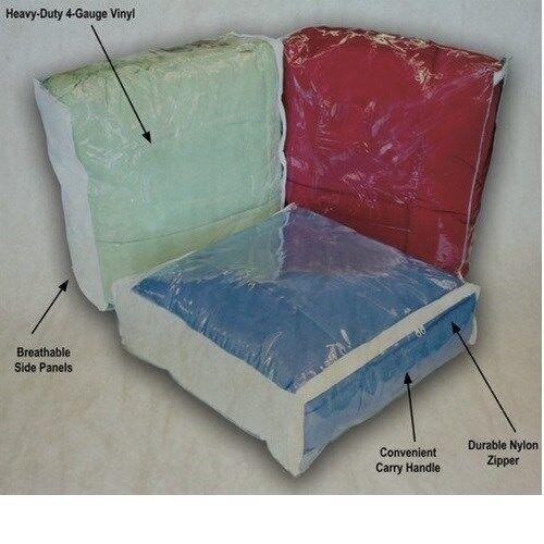 Queen or King Comforter / Blanket Storage Bags Clear w/ Zipper & Handle