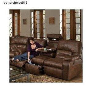 Leather Reclining Sofa EBay - Leather sofa reclining