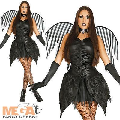 Dark Fairy Ladies Fancy Dress Gothic Fairy Tale Horror Adults Halloween Costume - Dark Fairy Fancy Dress Kostüm