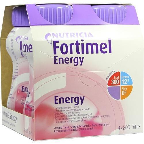 FORTIMEL Energy Erdbeergeschmack 4X200 ml