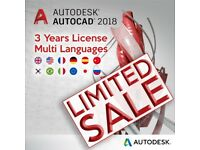 AutoCAD 2018 | 3 years Autodesk Original License WIN/MAC