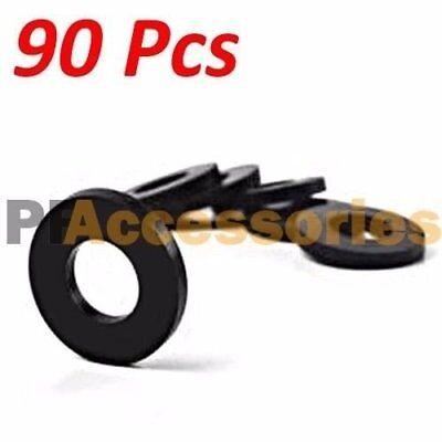 90 Pcs 34 Inch Od O-ring Hose Gasket Flat Rubber Washer Lot For Faucet Grommet