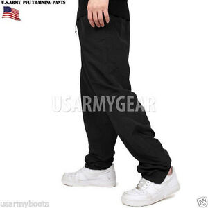 Made-in-US-Army-Military-IPFU-Physical-Fitness-Training-New-Black-PT-Sweat-Pants