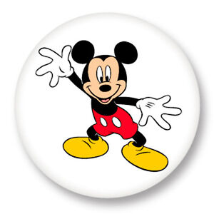 pin button badge 25mm 1 mickey mouse walt disney dessin anim ebay. Black Bedroom Furniture Sets. Home Design Ideas