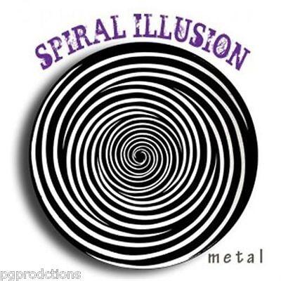 STEEL HYPNO SPIRAL OPTICAL ILLUSION Spinning Metal Disk Shrinking Head Magic 6