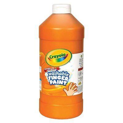 16 Oz Finger Paint (Crayola Washable Finger Paint - Orange (16 oz. Plastic Bottle) )