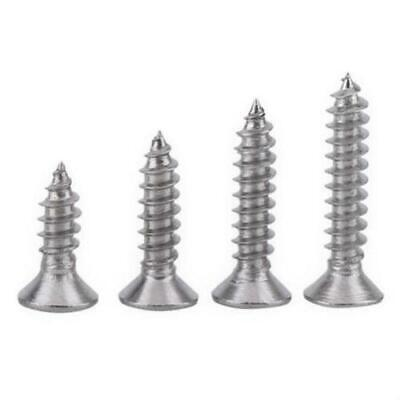 400 Qty Assorted 6 Flat Head Zinc Coated Phillips Head Wood Screws Bcp5