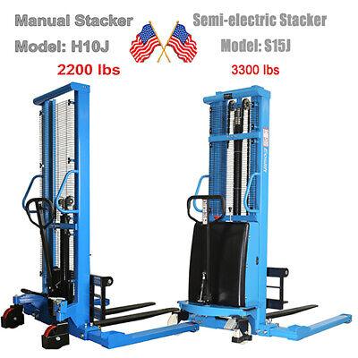 Eoslift Semi-electric Stacker S15j Manual Pallet Stacker Straddle Stacker H10j