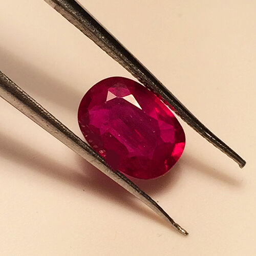 1.91cts HGT Certified Natural Heated Pomegranate Red Pink Ruby Loose Gemstone