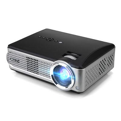 iRULU P4 Projector 2800 Lumens 1080P HD LED Home Theater Video Games W/TV Turner