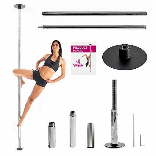 Stripper Pole – Professional Fitness Pole, Adjustable Base 9ft, Pole Dance